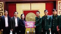 Bộ Tư lệnh Quân khu 4 thăm, chúc Tết Báo Nghệ An