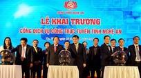 Nghệ An khai trương Cổng dịch vụ công trực tuyến