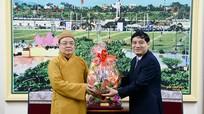 Ban Trị sự Giáo hội Phật giáo Việt Nam tỉnh Nghệ An chúc Tết Tỉnh ủy Nghệ An