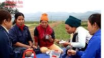 Nông dân Nghệ An đem cơm ra đồng ăn giữa ngày giá rét