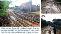Đường miền Tây Nghệ An lầy lội 'nóng' trên mạng xã hội