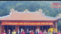 Qùy Châu: Khánh thành Đền thờ Chiêng Ngam