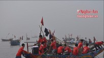 Giải đua thuyền đầu Xuân và ra quân sản xuất ở Quỳnh Long (Quỳnh Lưu)