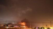 Cháy lớn ở Công ty ôtô Trường Hải Quảng Nam