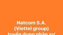 Công ty Natcom S.A (Viettel Group) tuyển dụng nhân sự làm việc tại HAITI