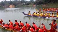 Hấp dẫn hội đua thuyền đền Quả Sơn