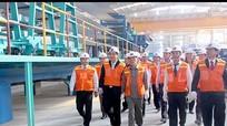 Đồng chí Nguyễn Sinh Hùng và lãnh đạo tỉnh thăm, làm việc tại một số dự án trọng điểm