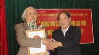 2 hội viên Hội Văn nghệ dân gian Nghệ An được tặng thưởng cấp Nhà nước