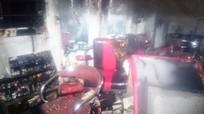 Cháy ki ốt cắt tóc tại chợ chiều Quán Bánh