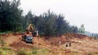 Khai thác cát trộm tại bờ biển Quỳnh Lưu