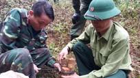 Kỳ Sơn: Phát hiện hàng chục quả bom khi xây trường học