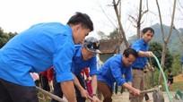 Tương Dương: Thanh niên giúp dân làm đường bê tông