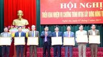 Nghệ An: Khen thưởng 33 tập thể, cá nhân trong xây dựng nông thôn mới