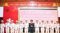 Công an Nghệ An: Công bố quyết định luân chuyển, bổ nhiệm 32 lãnh đạo, chỉ huy