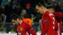Man Utd đánh rơi chiến thắng trên đất Nga