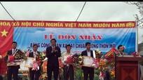 Nam Kim (Nam Đàn) đón nhận xã đạt chuẩn Quốc gia nông thôn mới