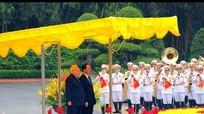 Lễ đón chính thức Tổng thống Israel thăm Việt Nam
