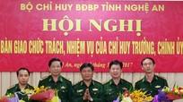 Bộ Chỉ huy bộ đội biên phòng Nghệ An có Chỉ huy trưởng, Chính ủy mới