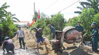 Tần Kỳ được cấp 1.050 tấn xi măng làm đường bê tông