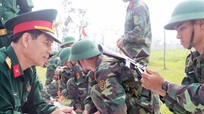 Bộ CHQS tỉnh kiểm tra công tác huấn luyện chiến sỹ mới và dân quân tự vệ