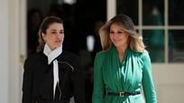 Đệ nhất phu nhân Mỹ đọ sắc bên Hoàng hậu Jordan