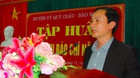 Tập huấn nghiệp vụ làm báo điện tử tại Quỳ Châu