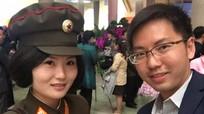 Nữ binh sĩ Triều Tiên gây chú ý với ảnh selfie