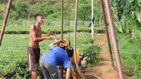 Anh Sơn: Khoan giếng chống hạn cho chè
