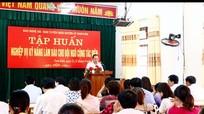 Tập huấn nghiệp vụ làm báo cho cộng tác viên huyện Nam Đàn