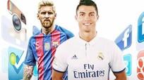 Ronaldo ăn đứt Messi trên mạng xã hội