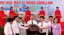 Chủ tịch nước Trần Đại Quang nhấn nút vận hành Nhà máy xi măng Sông Lam