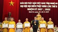 Hơn 500 đại biểu dự Đại hội Đại biểu Phật giáo tỉnh Nghệ An lần thứ 2