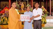 Chùa Thuần Hậu hỗ trợ xây dựng nhà tình thương ở Yên Thành
