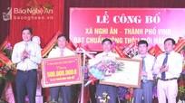 Xã Nghi Ân (TP Vinh) đón Bằng công nhận đạt chuẩn nông thôn mới