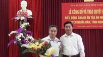 Tòa án nhân dân tỉnh Nghệ An công bố quyết định điều động cán bộ