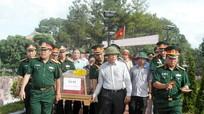 Nghi Lộc tổ chức lễ an táng 2 hài cốt liệt sỹ