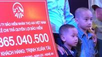AIA Nghệ An chi trả 365 triệu đồng cho khách hàng