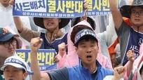 Hàng nghìn người biểu tình phản đối triển khai THAAD ở Hàn Quốc