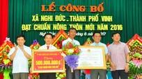 Xã Nghi Đức (TP Vinh) đón Bằng công nhận đạt chuẩn Nông thôn mới