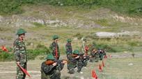 Bộ CHQS tỉnh kiểm tra điều lệnh, bắn súng AK