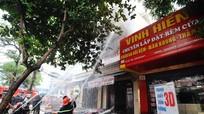 Nghệ An: Cháy dữ dội tại cơ sở ép bạt bọc đệm