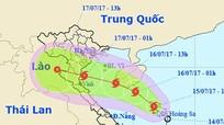 Bão cấp 8 hướng Thanh Hóa - Hà Tĩnh