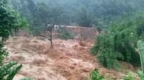 Nước lũ dâng cao gây ngập úng, sạt lở ở miền núi Nghệ An