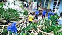 Thanh niên Nghệ An ra quân khắc phục hậu quả cơn bão số 2