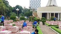 Tuổi trẻ thành phố ra quân dọn vệ sinh Nghĩa trang Liệt sỹ