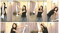 Giữ eo thon nhờ chiếc khăn 'số 8' theo cách của người Nhật