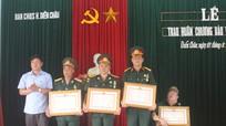 Diễn Châu: Trao Huân chương Bảo vệ Tổ quốc cho 5 cựu quân nhân