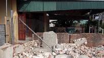 Sập tường phòng giao dịch ngân hàng, một người tử vong