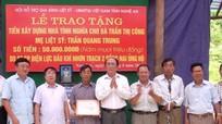 Xây dựng nhà tình nghĩa cho thân nhân liệt sỹ ở Nam Đàn