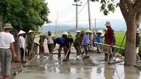 Nhân dân Nghi Công Bắc đóng góp 530 triệu đồng làm đường nông thôn mới